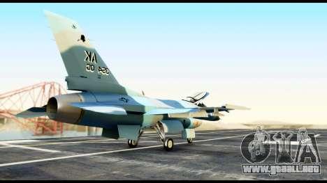 F-16 Aggressor Alaska para GTA San Andreas vista posterior izquierda