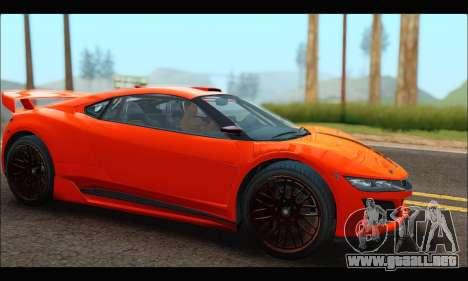 Dinka Jester Racecar (GTA V) para GTA San Andreas vista posterior izquierda