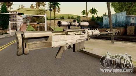 Accuracy International AS50 .50 BMG para GTA San Andreas segunda pantalla