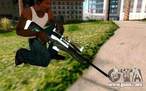 Blue Line Sniper para GTA San Andreas sucesivamente de pantalla