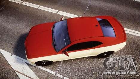 Chevrolet Camaro SS para GTA 4 visión correcta