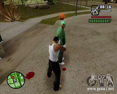 Indicador Digital de la vida de los opositores para GTA San Andreas segunda pantalla