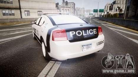 Dodge Charger 2006 Sheriff Dukes [ELS] para GTA 4 Vista posterior izquierda