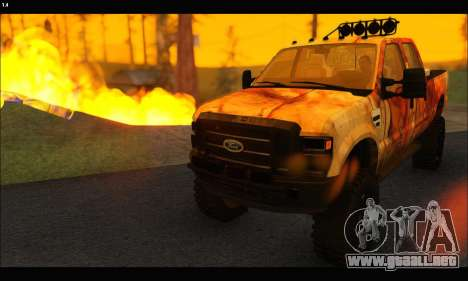 Ford F-250 Rusty Lifted 2010 para la visión correcta GTA San Andreas