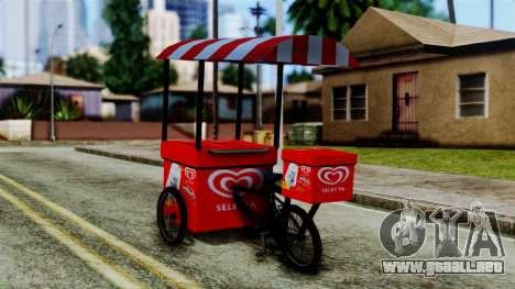 Selecta Ice Cream Bike para GTA San Andreas left