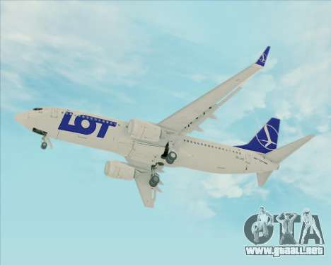 Boeing 737-800 LOT Polish Airlines para visión interna GTA San Andreas