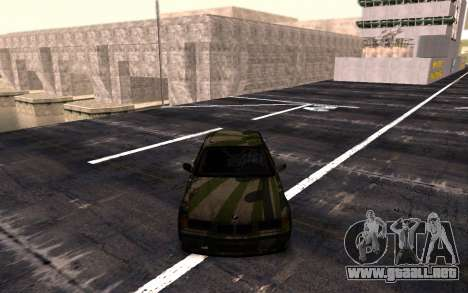 BMW M3 E36 Hunter para GTA San Andreas vista posterior izquierda
