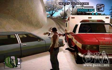 HUD by Weezy para GTA San Andreas segunda pantalla
