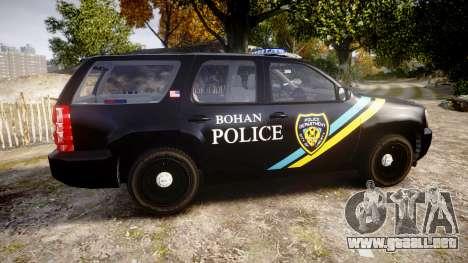 Chevrolet Tahoe 2010 Sheriff Bohan [ELS] para GTA 4 left