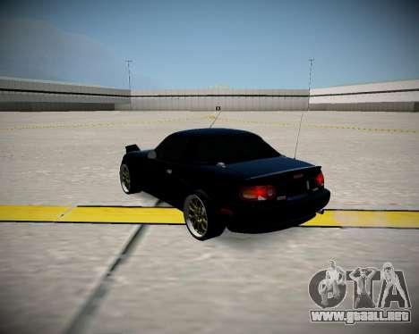 Mazda MX-5 JDM para GTA San Andreas vista posterior izquierda