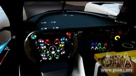 Toyota TS040 Hybrid 2014 para GTA San Andreas vista posterior izquierda