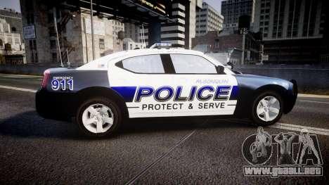 Dodge Charger 2006 Algonquin Police [ELS] para GTA 4 left