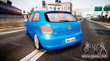 Volkswagen Gol G6 iTrend 2014 rims2 para GTA 4 Vista posterior izquierda