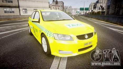 Holden Commodore Omega Series II Taxi v3.0 para GTA 4