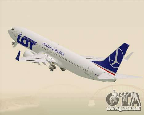 Boeing 737-800 LOT Polish Airlines para vista inferior GTA San Andreas