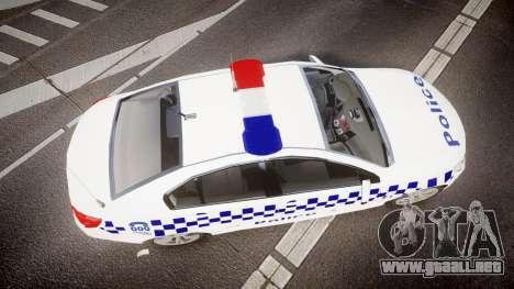 Holden VF Commodore SS Victorian Police [ELS] para GTA 4 visión correcta
