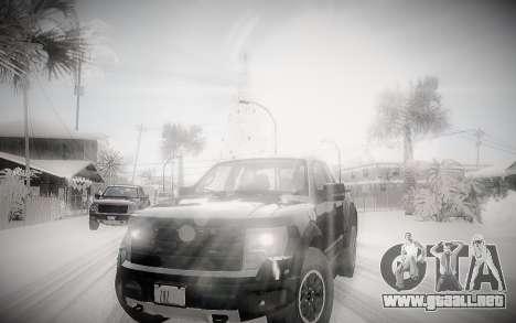 Invierno 2.0 ENBSeries para GTA San Andreas segunda pantalla