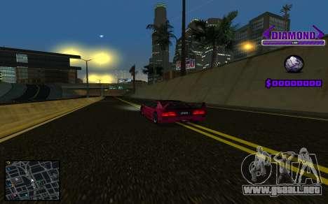 C-HUD Diamond Gangster para GTA San Andreas quinta pantalla