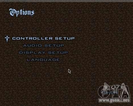 Minecraft Menú para GTA San Andreas segunda pantalla