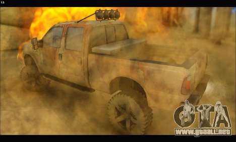 Ford F-250 Rusty Lifted 2010 para GTA San Andreas left