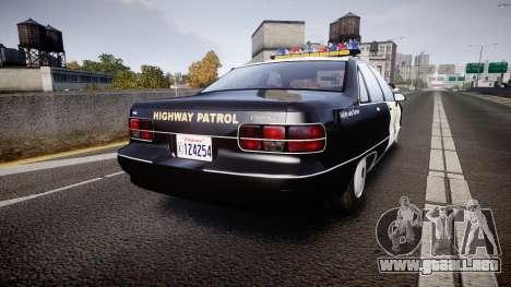 Chevrolet Caprice Highway Patrol [ELS] para GTA 4 Vista posterior izquierda