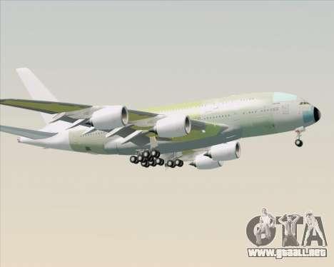 Airbus A380-800 F-WWDD Not Painted para GTA San Andreas vista posterior izquierda
