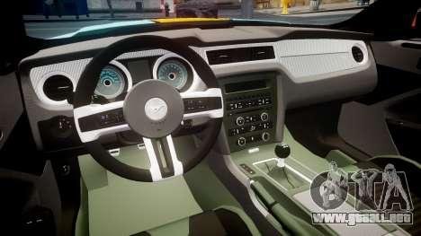 Ford Mustang Boss 302 2013 Gulf para GTA 4 vista hacia atrás