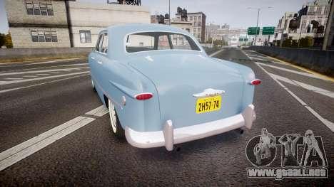 Ford Custom Fordor 1949 para GTA 4 Vista posterior izquierda