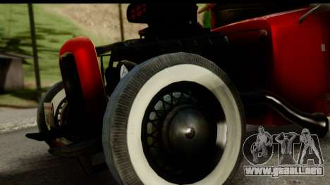 Smith 34 Hot Rod para GTA San Andreas vista posterior izquierda