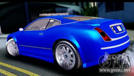 GTA 5 Enus Cognoscenti Cabrio para GTA San Andreas vista posterior izquierda