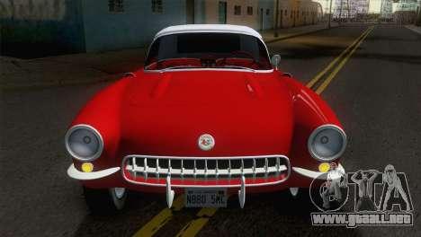 Chevrolet Corvette C1 1957 para la visión correcta GTA San Andreas