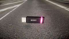 Unidad flash USB de Sony púrpura