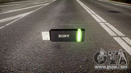 Unidad flash USB de Sony verde para GTA 4
