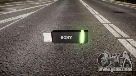 Unidad flash USB de Sony verde para GTA 4