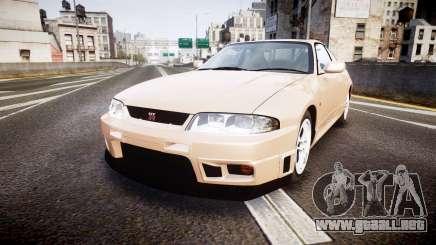 Nissan Skyline R33 GT-R V.spec 1995 para GTA 4