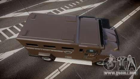 GTA V Brute Police Riot para GTA 4 visión correcta