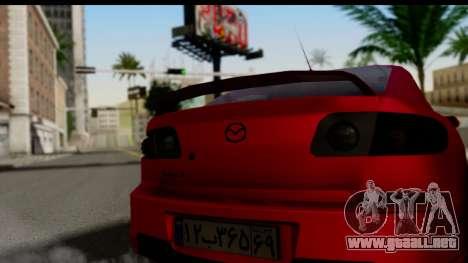 Mazda 3 2008 para GTA San Andreas vista posterior izquierda