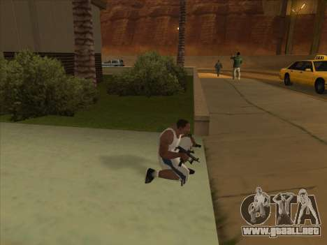 Ruso metralletas para GTA San Andreas sucesivamente de pantalla