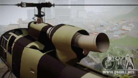 SA 342 Serbian Police Gazelle CAMO para la visión correcta GTA San Andreas