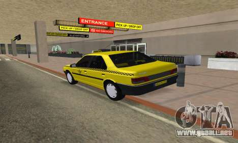 Peugeot 405 Roa Taxi para GTA San Andreas left