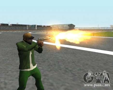 Hermosas tomas de armas para GTA San Andreas sucesivamente de pantalla