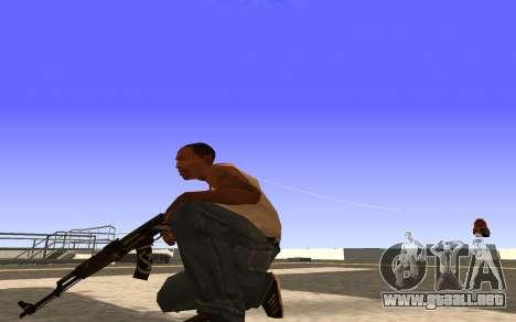 AK-47, Desert rebel CS:GO para GTA San Andreas tercera pantalla