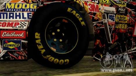 NASCAR Chevy SS 2013 para GTA San Andreas vista posterior izquierda