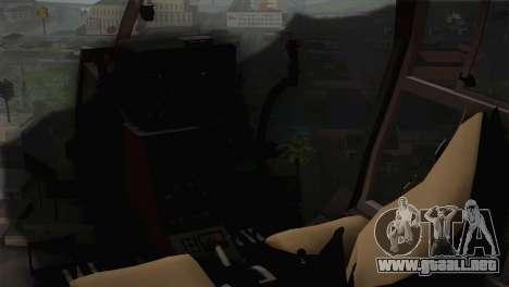 SA 342 Serbian Police Gazelle CAMO para GTA San Andreas vista hacia atrás