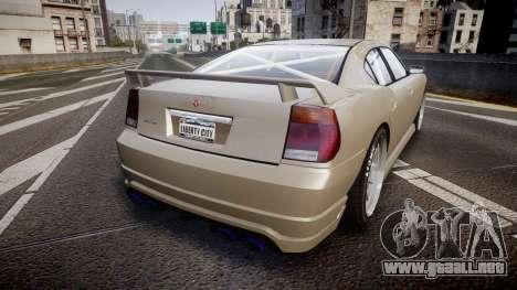 Bravado Buffalo Supercharged 2015 para GTA 4 Vista posterior izquierda