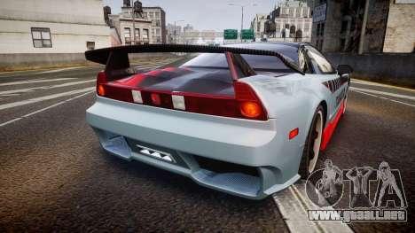 Honda NSX 1998 [EPM] takata para GTA 4 Vista posterior izquierda