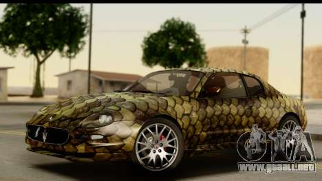 Maserati Gransport 2006 para vista inferior GTA San Andreas