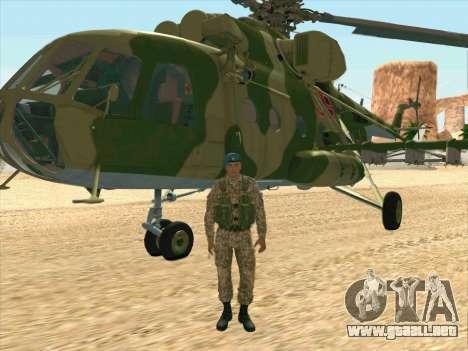 Mi-8 para GTA San Andreas vista posterior izquierda