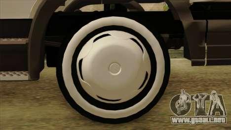 Mercedes-Benz Atego Hal Kamyonu para GTA San Andreas vista posterior izquierda