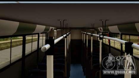 Marcopolo Torino GV Linea 29 Panchito Lopez para GTA San Andreas vista posterior izquierda